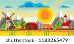 abstract vector countryside... | Shutterstock .eps vector #1183265479