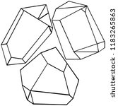 diamond rock jewelry mineral.... | Shutterstock . vector #1183265863
