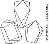 diamond rock jewelry mineral.... | Shutterstock . vector #1183265869