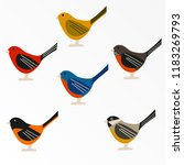 bird set  sparrow set  children'...   Shutterstock .eps vector #1183269793