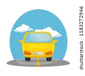 taxi public service on road | Shutterstock .eps vector #1183272946