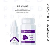 ophthalmic medications concept. ... | Shutterstock .eps vector #1183276486