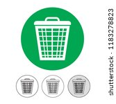 trash can icon | Shutterstock .eps vector #1183278823