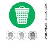 trash can icon | Shutterstock .eps vector #1183278826