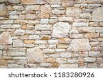 old stone wall | Shutterstock . vector #1183280926