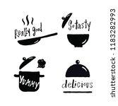 set of hand lettering phrases... | Shutterstock .eps vector #1183282993