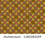 a hand drawing pattern made of... | Shutterstock . vector #1183283209