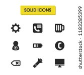 ui icons set with glass ...