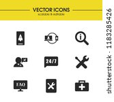 support icons set with help... | Shutterstock .eps vector #1183285426