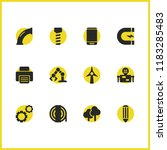 industrial icons set with...
