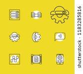 tech icons set with bio...