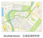 city map navigation route ... | Shutterstock .eps vector #1183285939