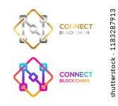 letter n colorful dots logo... | Shutterstock .eps vector #1183287913