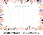 cute vector weekly planner... | Shutterstock .eps vector #1183287919
