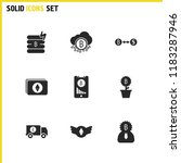 crypto finance icons set with... | Shutterstock . vector #1183287946