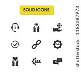 service icons set with link ...