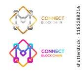 letter m colorful dots logo... | Shutterstock .eps vector #1183288216