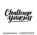 challenge yourself. vector... | Shutterstock .eps vector #1183291693