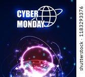 cyber monday poster design... | Shutterstock .eps vector #1183293376