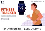 sport concept with fitness... | Shutterstock .eps vector #1183293949