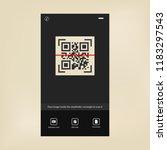 modern technology. qr code... | Shutterstock .eps vector #1183297543