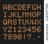 retro style dotted led font.... | Shutterstock .eps vector #1183297546