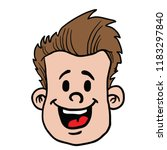 man with happy face cartoon... | Shutterstock .eps vector #1183297840