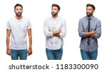 collage of handsome young... | Shutterstock . vector #1183300090