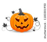 pumpkin on white background.... | Shutterstock .eps vector #1183301950