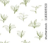 seamless pattern with green tea ... | Shutterstock .eps vector #1183305523