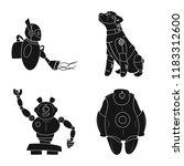 vector illustration of robot... | Shutterstock .eps vector #1183312600