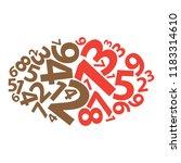 text cloud. numbers wordcloud.... | Shutterstock . vector #1183314610