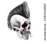 skull hipster style  creative...   Shutterstock . vector #1183316869