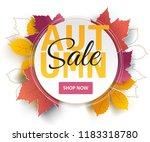 autumn sale background layout... | Shutterstock .eps vector #1183318780