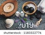 set for spa procedures with...   Shutterstock . vector #1183322776
