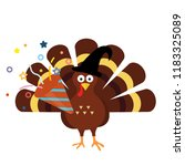 happy thanksgiving celebration... | Shutterstock .eps vector #1183325089