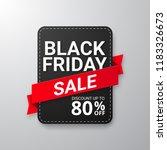 black friday sale banner.... | Shutterstock .eps vector #1183326673