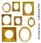 set of oval picture frames.... | Shutterstock . vector #1183326709