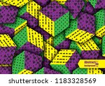 multicolored cubes with...   Shutterstock .eps vector #1183328569