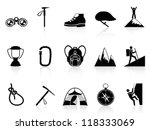 climbing mountain icons set | Shutterstock .eps vector #118333069