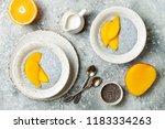 healthy breakfast set. chia...   Shutterstock . vector #1183334263