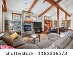 beautiful open plan home with a ... | Shutterstock . vector #1183336573
