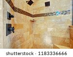 white master bathroom with... | Shutterstock . vector #1183336666