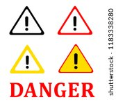 attention danger signal icon... | Shutterstock .eps vector #1183338280