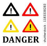 attention danger signal icon... | Shutterstock .eps vector #1183338283