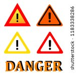attention danger signal icon... | Shutterstock .eps vector #1183338286