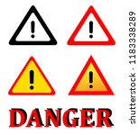 attention danger signal icon... | Shutterstock .eps vector #1183338289
