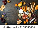 appetizers table with italian... | Shutterstock . vector #1183338436