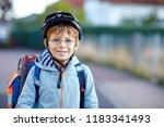 portrait of beautiful school... | Shutterstock . vector #1183341493