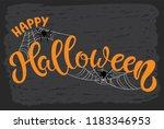 happy halloween hand sketched... | Shutterstock .eps vector #1183346953